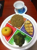 A recommended meal in Ellen Bauersfeld's office for individuals with or trying to prevent diabetes.