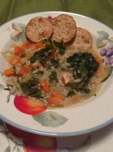 Brown Rice and Chicken Vegetable Soup a California WIC recipe
